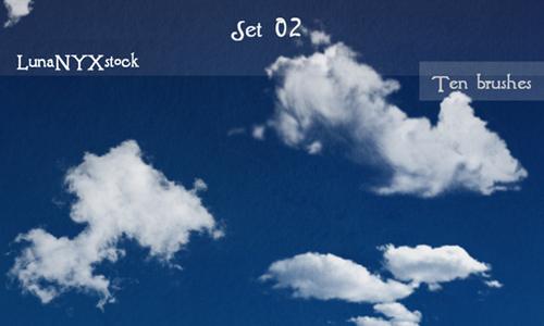Cloud brushes - set 02