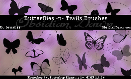 Butterflies-n-Trails Brushes