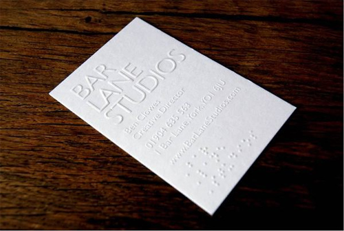 Business Card Design for Bar Lane Studios