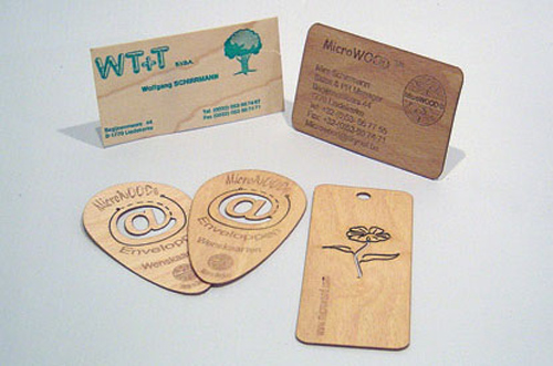 Wooden business cards are a real eye-catcher