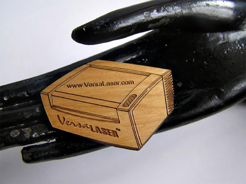 VersaLASER Laser Cut Wood Business Cards