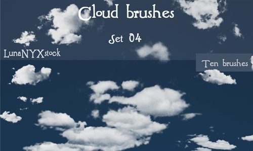Cloud brushes - set 04