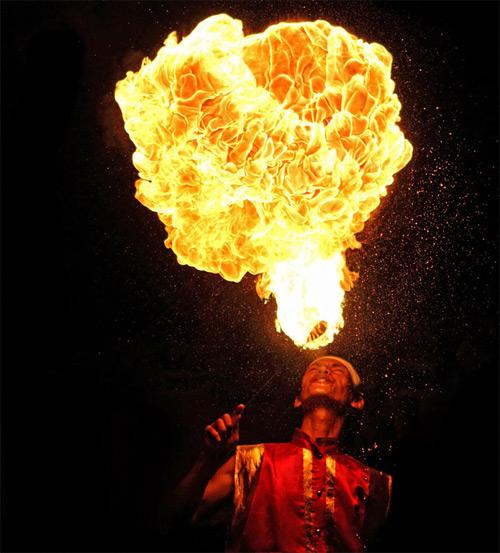Fire Dance high speed photography