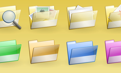 Simple Folder SVG Icon Set