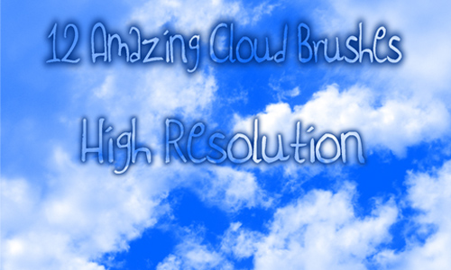 12 High Res. Cloud Brushes