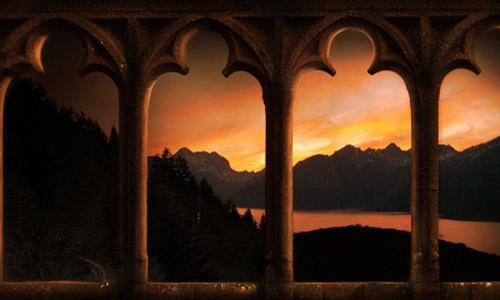 Expressive Castle Hallway