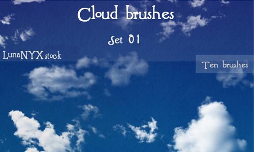 Cloud brushes - set 01