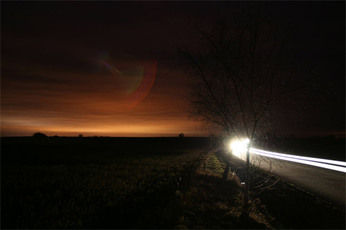 Speed of light long exposure photography