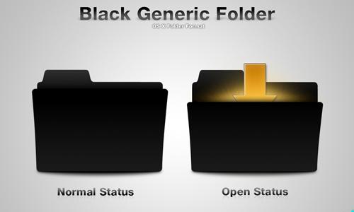 Black Generic Folder