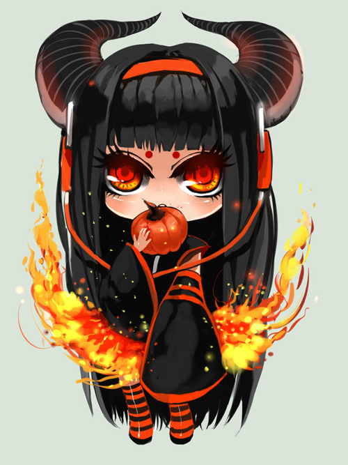 chibi halloween