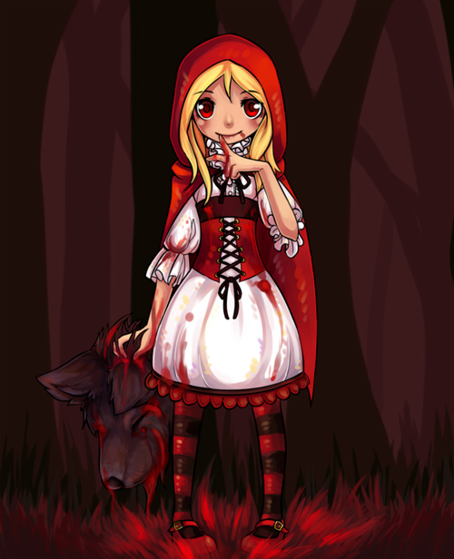 bloddy red riding hood