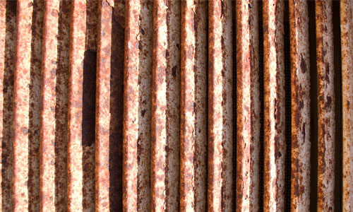Cool Vent in Rust Texture