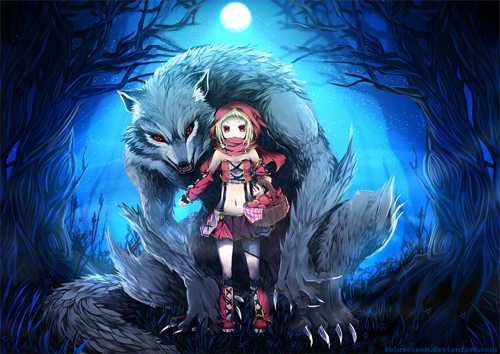 brave red riding hood