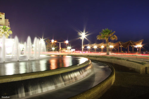 beautiful fountain at night for a wallpaper