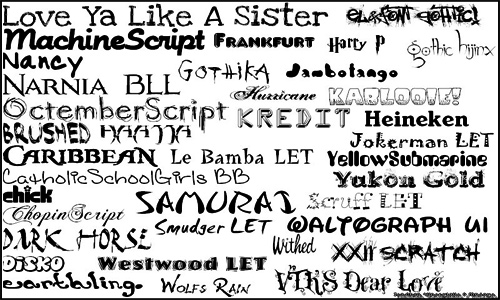 varieties of fonts