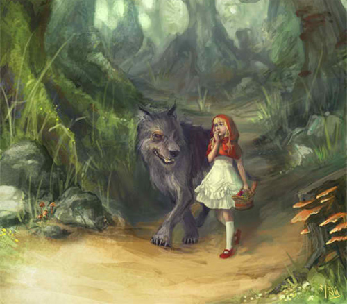 red big bad wolf#