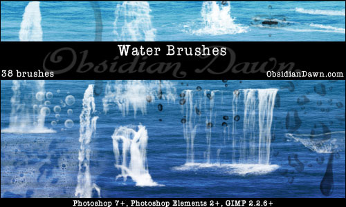 Really Absolute Water Photoshop 7 Brushes
