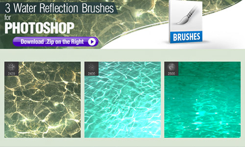 water reflections brushes