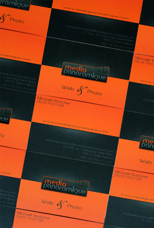 Elegant Orange Business Card