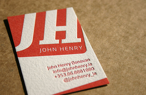 Deep Letterpress Cards