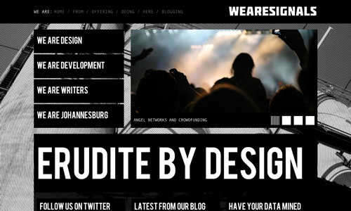 So Nice Black and White Website