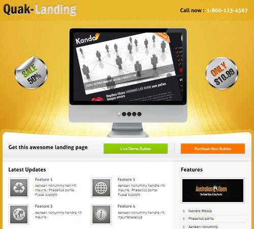 quak landing page