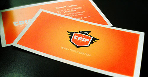 Soothing Orange Business Card