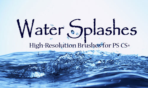 water splashes brush