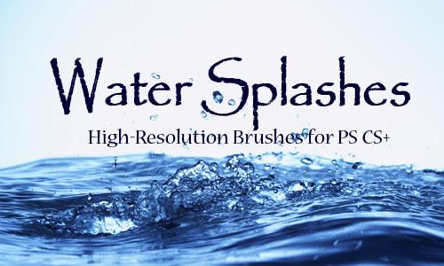 water splashes brush