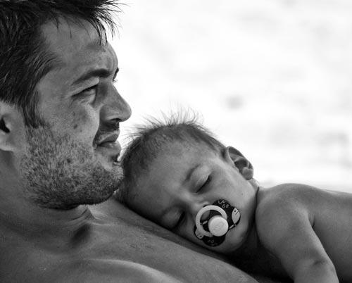 futuristic Father and Child Photo