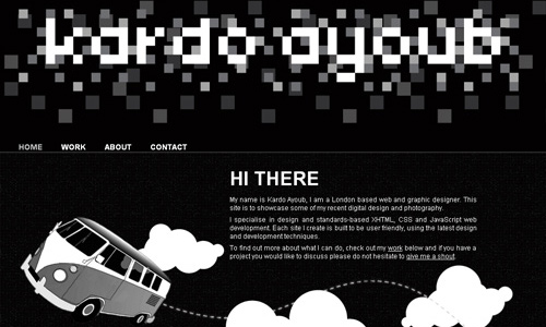Unique Black and White Website