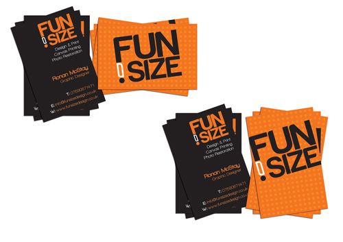 Really Fun Orange Business Card