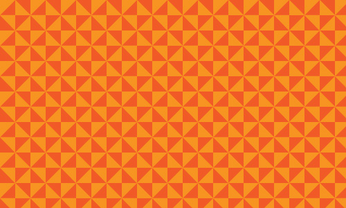 Go On Retro Orange Pattern