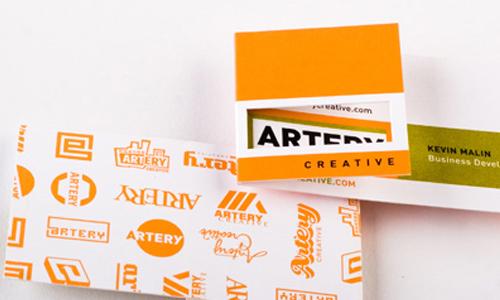 Simply Captivating Orange Business Card