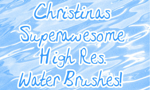water hi-res brush