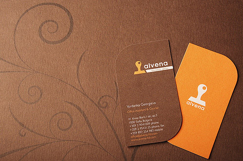 Pretty Orange Business Card