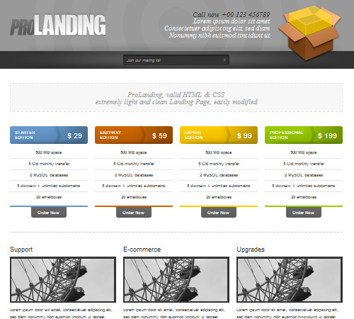 50 effective landing page templates for your products for Free html product page template