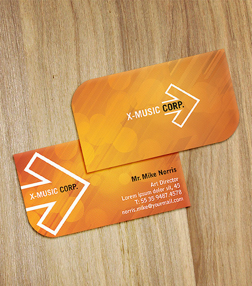 Beautiful Orange Business Card