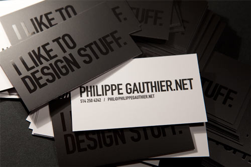 Exuding B&W Business Card