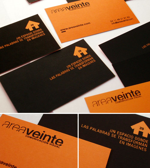 Awe-Inspiring Orange Business Card
