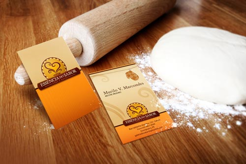 For Good Baking Orange Business Card