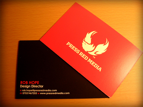 Press Red Media Business Cards