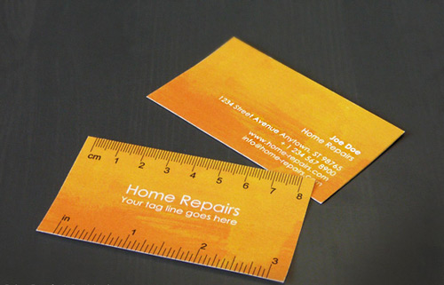 Indeed Creative Orange Business Card