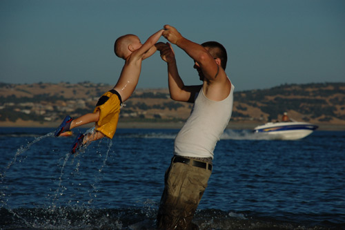 Perfect Enjoyment for Father and Child Photography