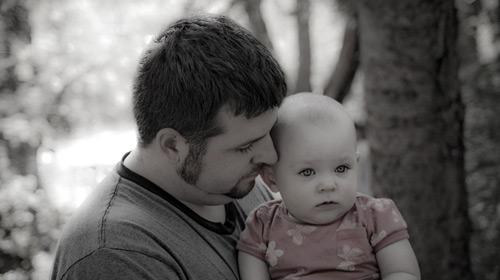 Memorable Father and Child Photo