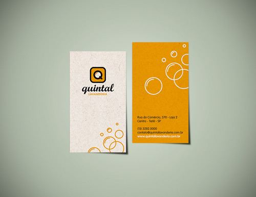 Bubbly Orange Business Card