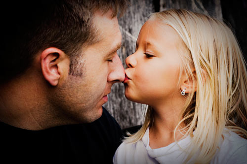 Very Engaging Father and Child Photo