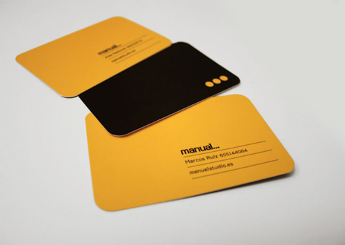 Really Formal Orange Business Card