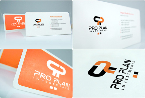 Absolutely Formal Orange Business Card