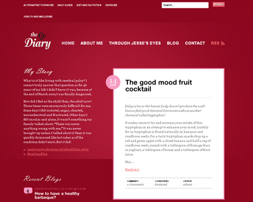 The CP Diary website